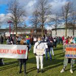 Demonstratie voor vrijlating Navalny