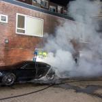 Meerder auto's in vlammen opgegaan