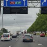 Drukte op A12 en A50 door ongeval knooppunt Waterberg