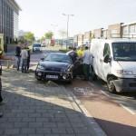 Veel blikschade bij aanrijding in Rotterdam