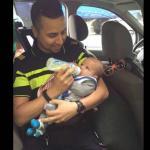 Agent geeft baby fles na ongeluk op N269 Tilburg