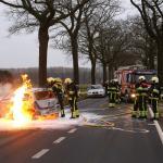 Auto uitgebrand na ongeval N637 bij Sint-Oedenrode