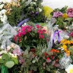 bloemen-herdenkingsplek