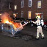 Brand in bouwcontainer kent ook voordelen