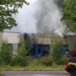 Brand voormalig Verkeerspark Assen