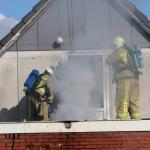 Klein brandje op dak café in Gieterveen