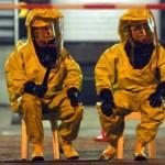 Foto van brandweer in gaspakken chemie | Archief EHF