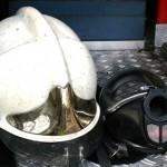 Foto van brandweerhelm | Archief MV