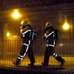 Foto van brandweermannen in donker | Archief EHF