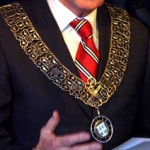 Foto van burgemeester met ambtsketting | Archief EHF