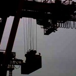 Foto van container hijskraan in haven | Archief EHF