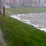 Foto van dijk en hoog water | Archief EHF