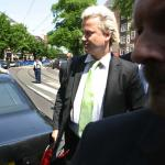 Foto van Wilders met beveiliging   Archief EHF