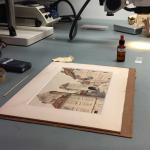 Door Hitler gemaakt aquarel bij NIOD aangeboden