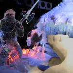 Gedeelte tent IJsbeeldenfestival Zwolle ingestort door sneeuw