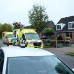 Ambulances en politie ter plaatse