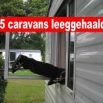 Camping getroffen door 45 caravaninbraken