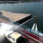 Brandweer Dubai zet flyboard in om branden te blussen