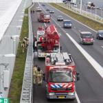 Brand in kraanwagen vlak voor Ketheltunnel A4