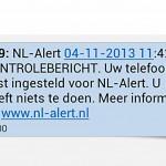 Foto van landelijke NL-Alert | Archief EHF
