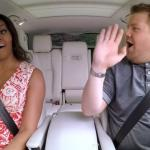 James Corden strikt Michelle Obama met 'carpool karaoke'