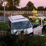 Ongeval met bestelbus op A50 bij Sint-Oedenrode