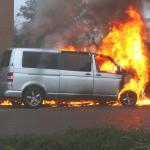 Busje in brand