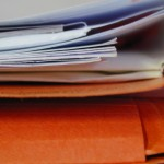 Foto van dossier mappen papier | Archief EHF