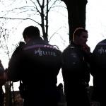 Foto van politie agenten tegenlicht   Archief EHF