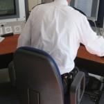 Foto van politie computer bureau | Archief EHF