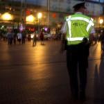 Foto van politie donker plein horeca | Archief EHF