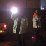 Foto van politie met zaklamp | Archief EHF