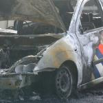 Politieauto in brand in Utrecht