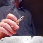Foto van sigaret rokende man | Archief EHF