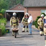 Foto van brand in schuur