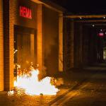 Brandbom bij Hema