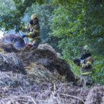 Brandweer haalt berg uit elkaar