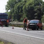 Veel schade bij ongeval A20 Vlaardingen