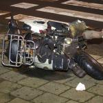 Scooter total loss na aanrijding