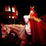 Foto van Sinterklaas op paard   Archief EHF