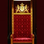 Foto van troonrede Ridderzaal stoel | Archief EHF