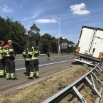 Vrachtwagen met bananen op A58 bij Oirschot wordt na de spits geborgen