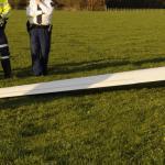 Gewonde bij chras gemotoriseerd zweefvliegtuigje