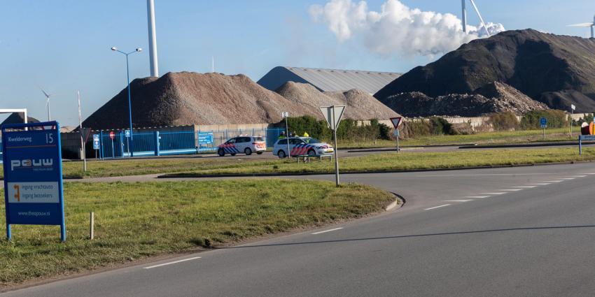 Brand bij bedrijf in Eemshaven