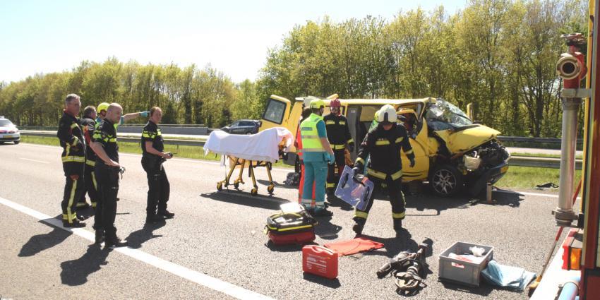 Kind gewond bij ongeval op A28