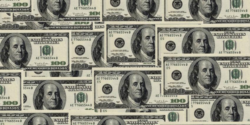 Foto van 100 dollar biljetten
