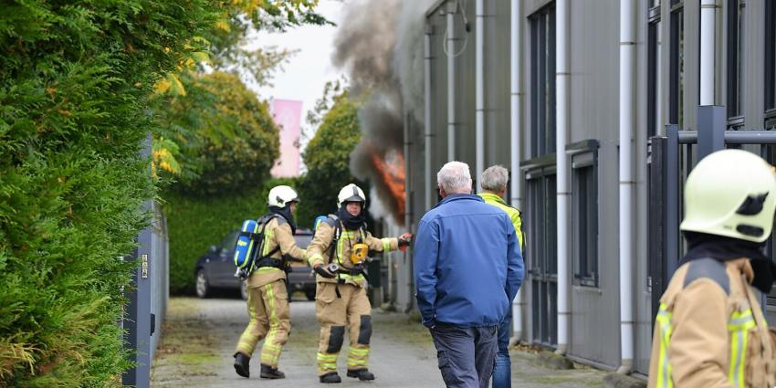 'Brand in geheim politiedepot in Eelde