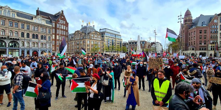 Demonstratie op de Dam