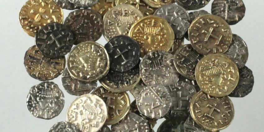 Foto van gevonden munten in Utrecht | RCE