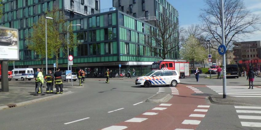 Foto van brand woon- en winkelcentrum Groningen | Bert van den Berg